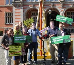 Aktion zum Fracking zur Bundestagswahl 2013